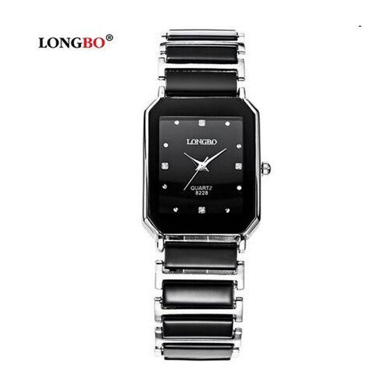 Luxury Brand Longbo Waterproof Business Fashion Quartz Ceramic Square Watch Dress Casual Wristwatches Man $ Woman Lovers Watches
