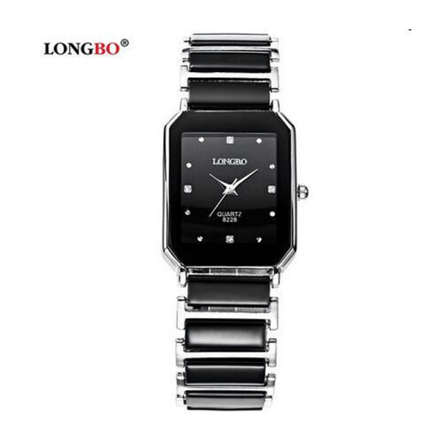 Luxury Brand Longbo waterproof business Fashion Quartz Ceramic Square watch Dres