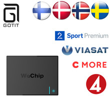 Beste Schwedisch Schweden Nordic Arabisch Europa Welt PRO IPTV Wechip V5 Android 6.0 S905X QuadCore KODI Smart TV Box Freies verschiffen