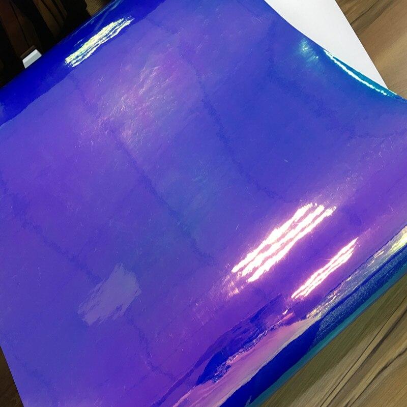 1,38x0,5 м синяя выпечка хром Радуга пленка для автомобиля Радуга виниловая Автомобильная наклейка выпуска воздуха высокое качество
