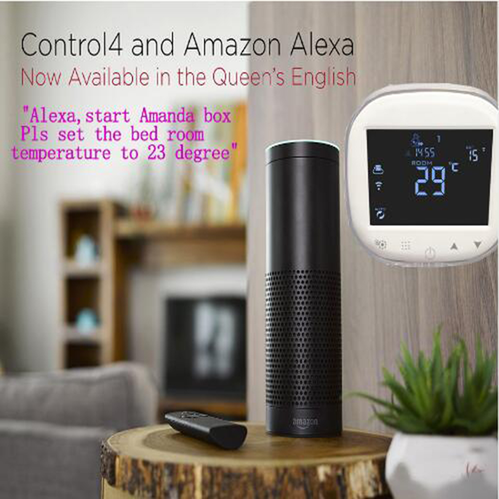Alexa WiFi Thermostat Programmable Temperature Controller Electric/Water Floor Heating Thermostat Wifi Temperature Regulator valve radiator linkage controller weekly programmable room thermostat wifi app for gas boiler underfloor heating