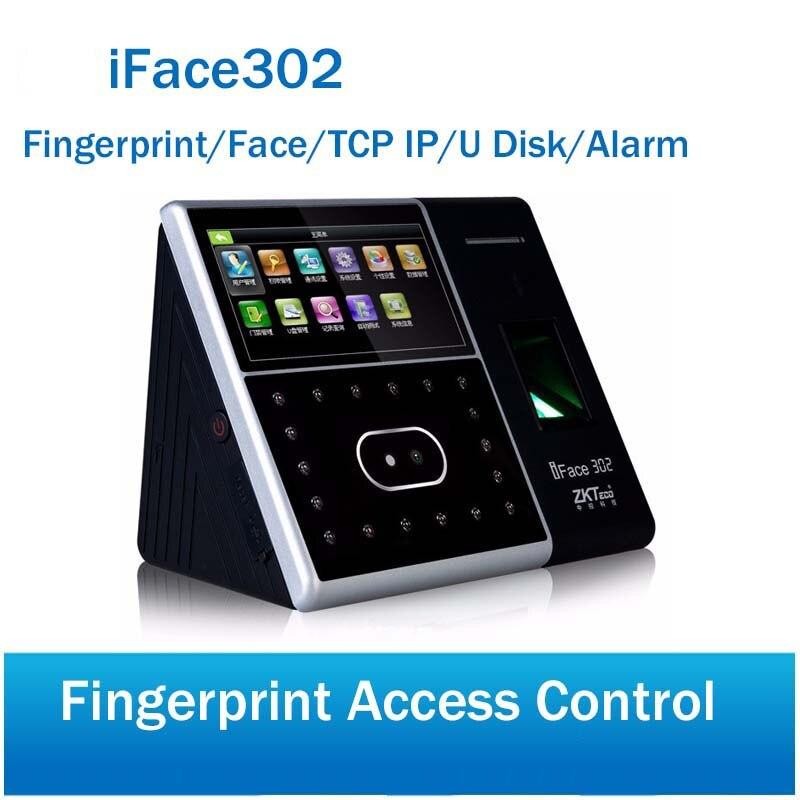 Бесплатная доставка Iface302 распознавания лица терминала время посещения и контроля доступа по отпечаткам пальцев время посещения