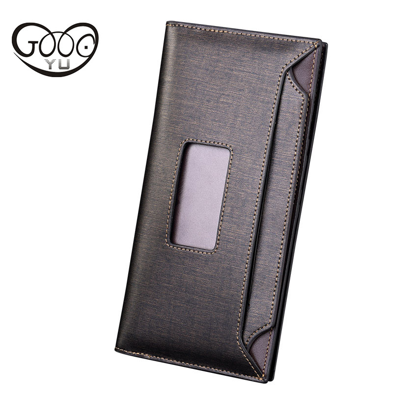 The new section of the long walnut mens wallet Long paragraph square-type multi-card bit leisure business clutch bag