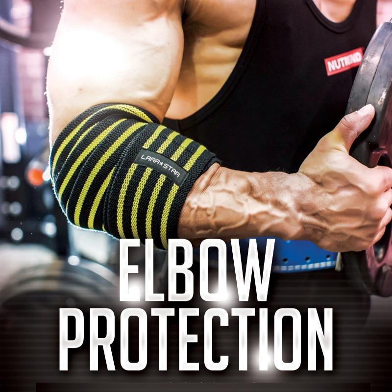 Élastique Elow Brace Soutien Bandages Bandage Respirant Barbell Weigtlifting Coude Support de Bras Brace Protection Manches Protecteur