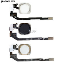 ФОТО jianglun touch id sensor home button key flex cable assembly for iphone 5s