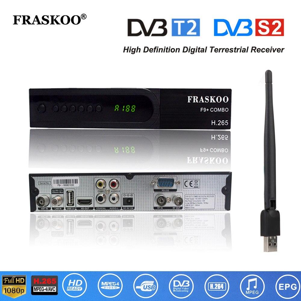 Heim-audio & Video Offen Fraskoo F9/f9 Plus Combo Dvb-t/dvb-t2 Tv Tuner Terrestrischen Receiver Dvb S/s2 Digitalen Satelliten-receiver Unterstützung H.265 Ac3 Dobly Krankheiten Zu Verhindern Und Zu Heilen