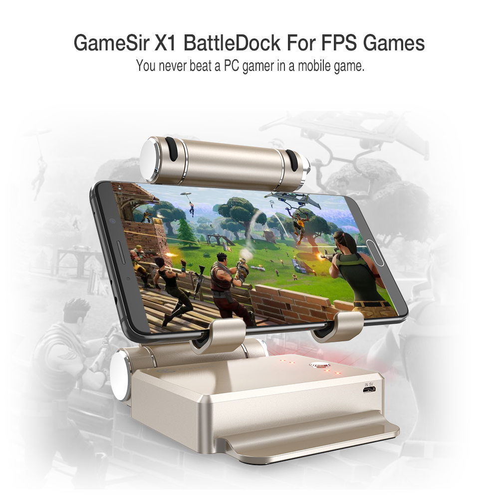 GameSir X1 BattleDock Converter, Using with Keyboard and Mouse Adapte for Phones,AoV,Mobile Legends, RoS, Knives Out, Free Fire