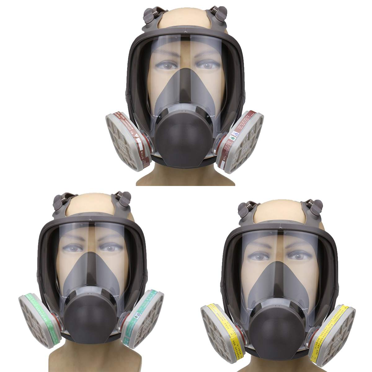SAFURANCE Emergency Survival Safety Respiratory Dust Gas Mask 2X Particulate Cotton Filter Workplace Safety Supplies Protective 10 pcs a lot 3803 dust mask cotton filter for anti dust mask workplace safety supplies new arrival excellent quality