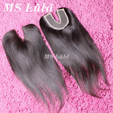 New Arrival Invisible Invisible part lace closure brazilian virgin straight hair full and thick Ms lula hair Free shipping