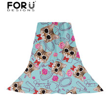 FORUDESIGNS 3D Cat Face Printing Women Scarves Ladies Funny Design Beach Scarf for Females Bowtie Pattern Kawaii Shawl Foulard