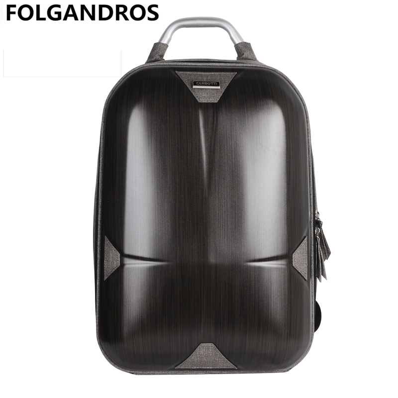 Fashion Backpack With Handle Men Woman Backpacks Laptop Backpack Hard Shell Waterproof Schoolbag Fashion Computer Interlayer Bag