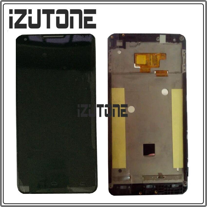 100% Garantie LCD Screen Display Avec Écran Tactile Digitizer + Cadre assemblée Pour Philips Xenium W6610 W6618 clignotant firmware