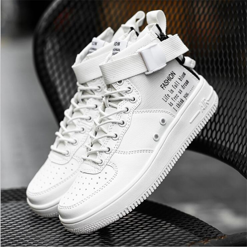 2018 Athletic air running shoes forceing white red black Breathable for men women sneakers basket sport tennis walking size36-45