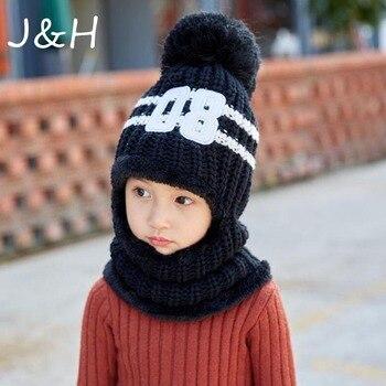 1 шт детские зимние шапки для девочек и мальчиков детские вязаные теплые шапки