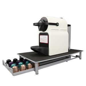 Cajón de almacenamiento de café de acero inoxidable, 40 cápsulas, soporte para cápsulas de café, soporte de torre para Nespresso HN3007, envío desde Rusia