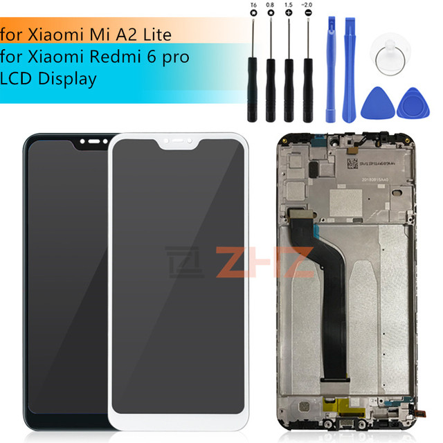 For Xiaomi Mi A2 lite display Touch Screen Digitizer assembly For Xiaomi Redmi 6 Pro/ Mi A2 Lite LCD Display With Frame