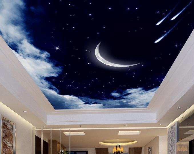 wallpaper for ceiling mural sky - photo #35