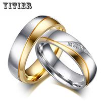 10pcs/lots Wholesale Wedding Rings for Couples Classic Stainless Steel Jewelry Provide Mix Size CR-035 Trendy Metal Round