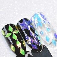 12 Kleuren/set Chameleon Diamant Ruit Ontwerp 3D Nail Art Studs Holo Nail Glitter Pailletten Manicure Nail Art Decoraties