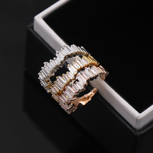 6mm Fashion Female Finger Rings For Women Lover Wedding Jewelry Party Trendy Rose Gold Sliver Color Ring Wholesale