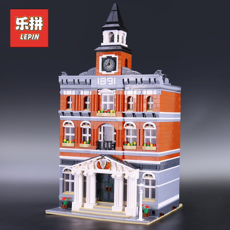 2018 Lepin 15003 City Building the town hall Model Building Kits Blocks DIY Educational Children Toy Compatible 10224 Gift building blocks stick diy lepin toy plastic intelligence magic sticks toy creativity educational learningtoys for children gift page 5