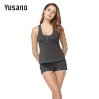 Yusano Sleepwear Women Short Sexy Pajamas Tank And Camisole Cami Set Home Clothing Cotton Nightwear Suit
