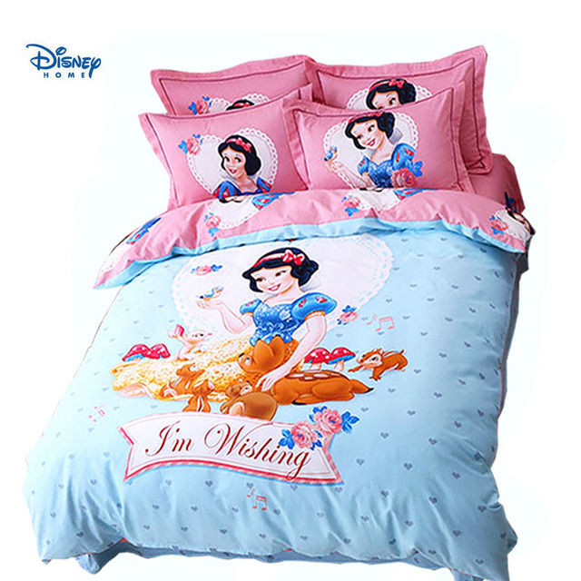US 29 OFF Snow White Comforter Bedding Sets Single Twin Queen Size Cotton Disney Princess Bedspreads Girl Bed Duvet Cover Kids Pillow Case In