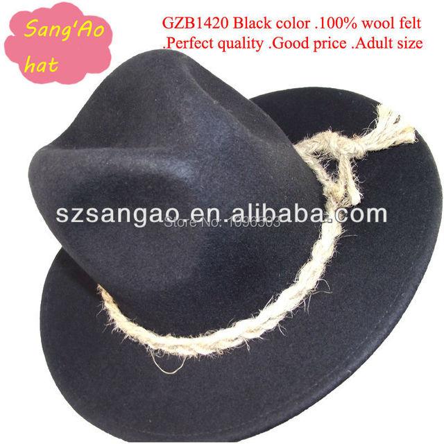 337e08d606214 Making perfect Black fashion men hats wool fedora floppy -in Fedoras ...