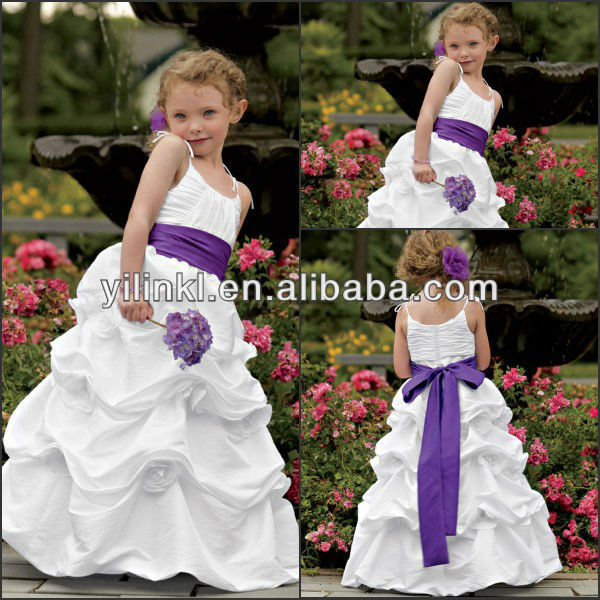 The most beautiful spaghetti strap floor lenth purple sashes pleat the most beautiful spaghetti strap floor lenth purple sashes pleat white flower girl dresses 2014 mightylinksfo