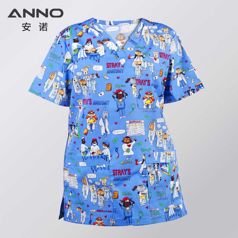 Анно костюм больничной медсестры костюмы для медицинских работников v-образным вырезом медицинская Спецодежда Брюки хирургический костюм одежда мужчины кормящих платье