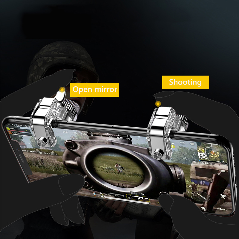 Image 5 - Metal PUBG Mobile Game Controller Gamepad Trigger Fire Button Aim Key L1 R1 Shooter Pubg Smartphone Gamepad  Accessories-in Gamepads from Consumer Electronics