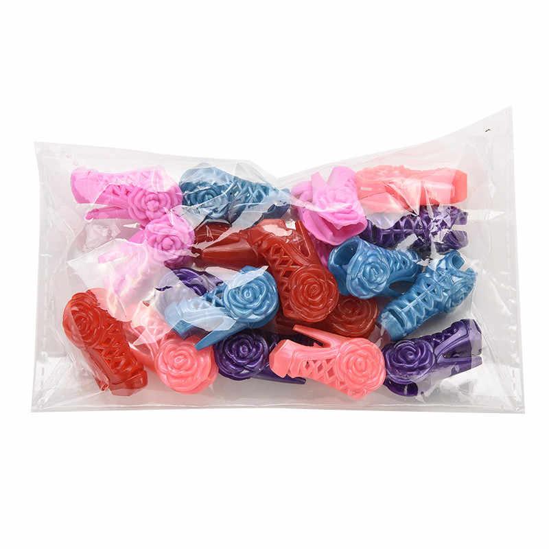 10 пар, Высококачественная детская игрушка, модная Милая разноцветная обувь для куклы с разными стилями