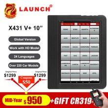 "Launch X431 V plus 10"" X431 V+ OBD2 Diagnostic Scanner Automotive OBDII Auto Diagnostic Tool Car Bluetooth Wifi Full System OBD"