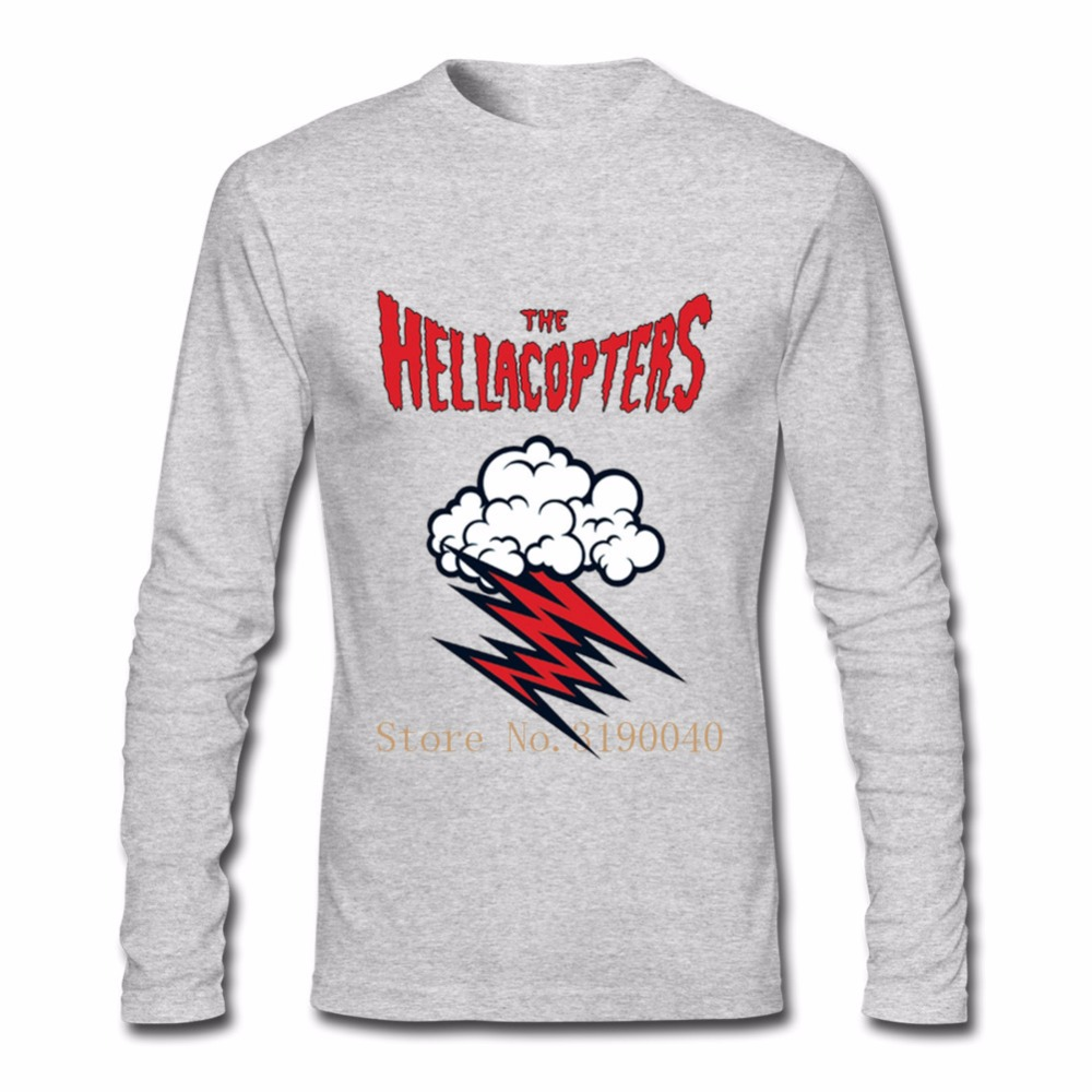 d51f1cdb T Shirt Men's Graphic 100% Cotton Long Sleeve The Hellacopters Rock Band  logo Tshirts Men's Clothes Tops Printed Shirt-in T-Shirts from Men's  Clothing on ...