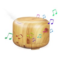 Multi Function Bluetooth Speaker With Essential Oil Diffuser Aroma Mist Humidifier LED Color Changing Lamp Face