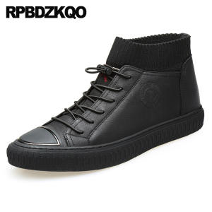 3a44f2f2813a32 RPBDZKQO Black High Top Driving Sneakers Men Spring Shoes