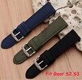 20mm 22mm correa de nylon + herramientas para samsung gear s2 s3 classic frontera tela correa de muñeca venda de reloj pulsera