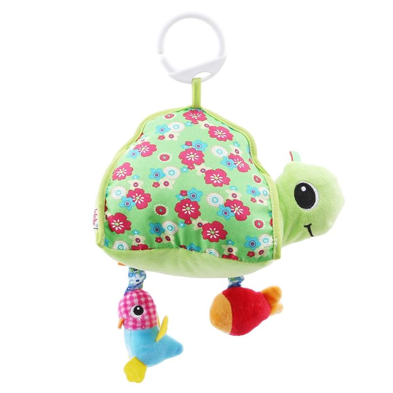 Hot Baby Toy Stuffed Plush Baby Rattles Newborn Toys 0-12 Months Toddler Car Seat Tortoise Mirror Infant Stroller Hanging
