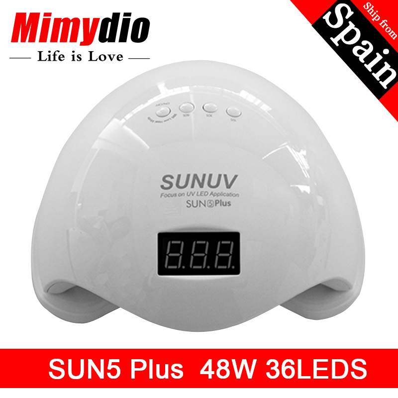 MIIMYDIO SUN5 Plus 48W 36Leds SUNUV Dual UV LED Nail Lamp Nail Droger Gel Polish Curing Light met Bodem 30 s/60 s Timer