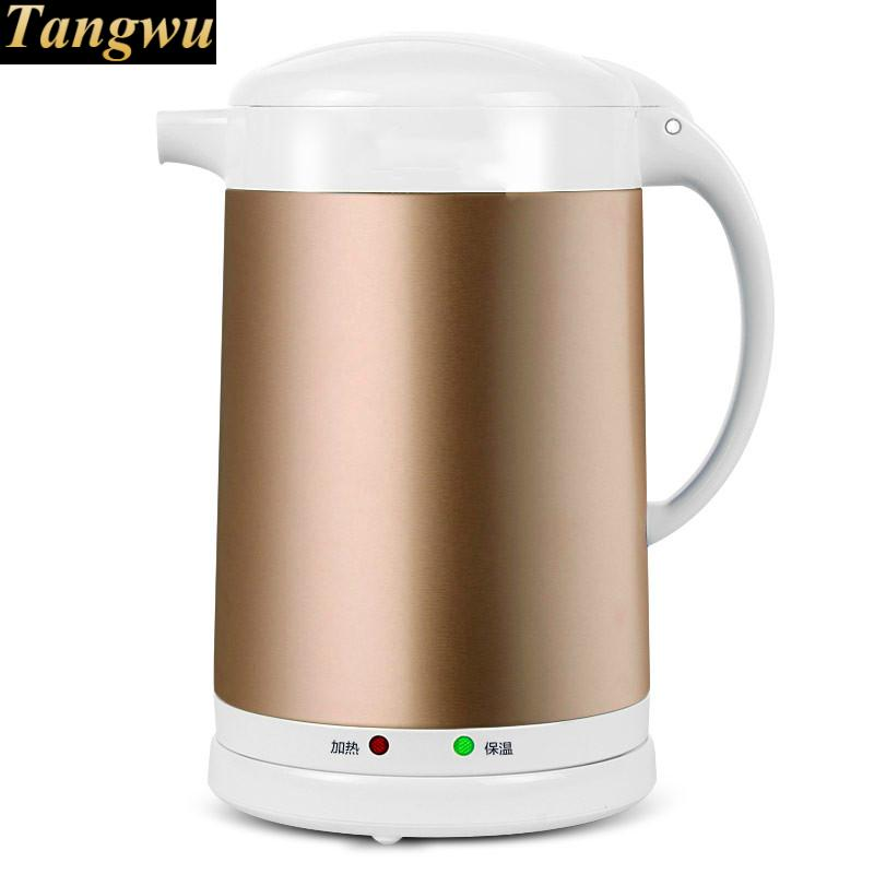 Electric kettle 2L home heat insulation 304 stainless steel boiling pot tea electric kettle boiling pot 304 stainless steel home insulation 1 7l