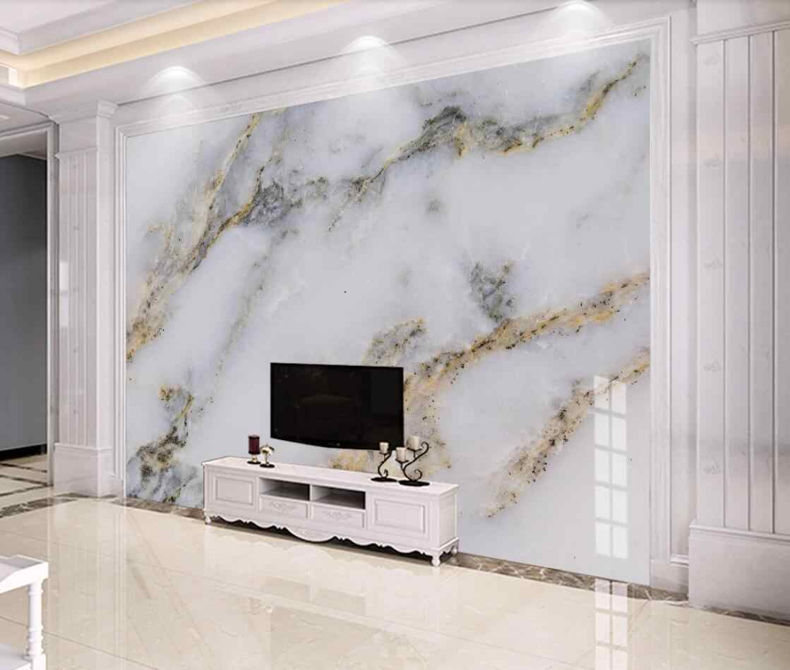 Modern White Marble Wallpaper 3d Wall Mural For Tv Background Wall Decor Gold Luxury Murals Photo Printed Wall Paper For Bedroom Wallpapers Aliexpress