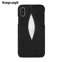 Brand genuine snake skin phone case For Xiaomi MI 8 phone back cover protective case leather phone case For Xiaomi pocophone f1