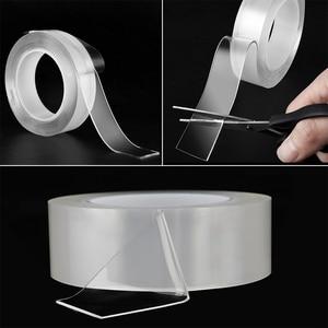 Image 4 - Bandes adhésives Double face avec Gel de silice 1mm, Super transparentes sans trace pour cuisine, maison et voiture, multiples utilisations