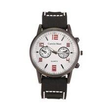 Mens Sports Watches Relogio Masculino Hot Sale Men Silicone Strap Quartz Watch Men Shockproof  Wristwatch Zegarki Meskie