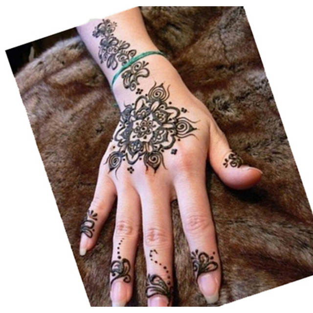 Online Shop 1 Pc Body Art Paint Black Henna Tattoos High Quality