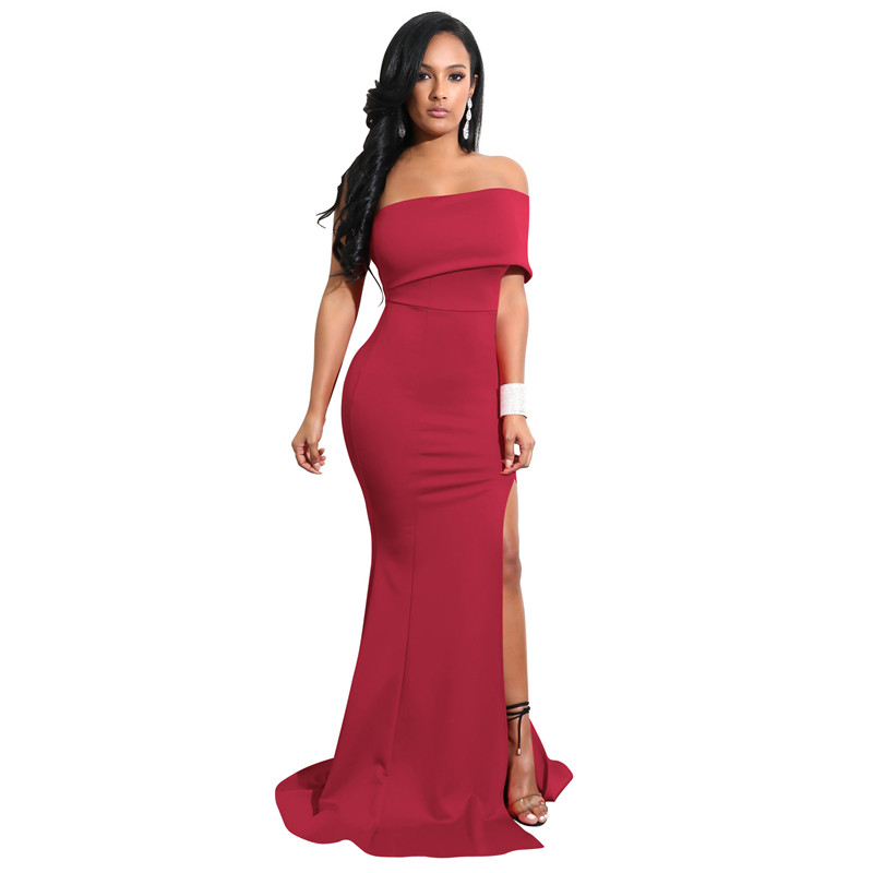 Women's Clothing Plus Size 2018 Women Summer Elegant Casual Ol Trumpet Sundress Fashion Sexy Maxi Dress