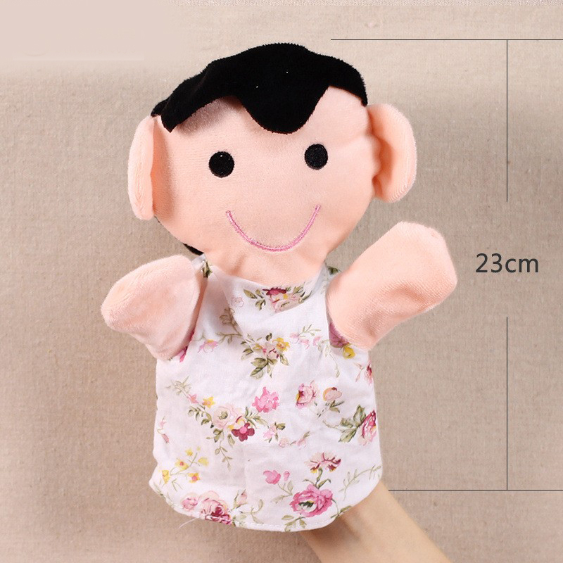 Image 5 - Grandparents mom dad family members Children Hand Puppet kids doll baby plush Stuffed Toy Puppets toys Christmas birthday gift-in Puppets from Toys & Hobbies
