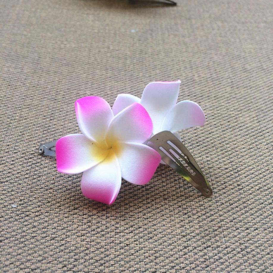 Happykiss 50 Mixed Color Foam Hawaiian Plumeria Flower Frangipani