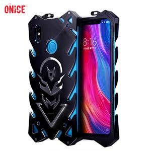 Image 1 - Xiaomi mi 8 Case Aluminum Metal Bumper Shockproof Phone Case on for Funda Xiomi mi 8 se mi8 Case Armor Protection Case Cover Men