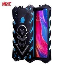 Xiaomi mi 8 Funda Alu mi num Metal parachoques a prueba de golpes Funda de teléfono para Funda Xio mi 8 SE mi 8 Funda de protección de armadura Funda para hombres
